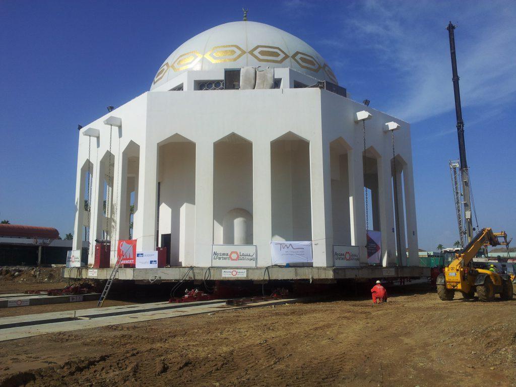 RFEM verplaatsing moskee